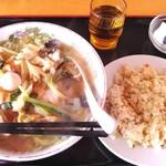 味蔵 - 料理写真:五目湯麵半炒飯定食