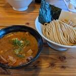 らーめん いつ樹 - 海老つけ麺   肉増し+味玉入り   ¥1100