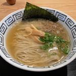 粋麺屋 - 赤鶏白湯焼あごブレンドsoup 塩らーめん(1100円)