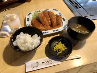 ステーキ宮川 - トンカツ定食 800円(税込)