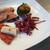 アン ベルジェ モンクゥ - 料理写真:ミニ御節、鴨胸肉のロースト、根菜のアチャールなど