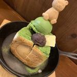かぐらちゃかプチ - 2020/12/27 ランチで利用。 抹茶トーストセット(1,200円+税)