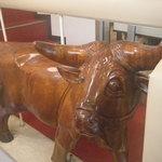 14395882 - 近江牛の木彫り、特注かな?