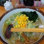 らーめんの店 貴布禰 - 料理写真:野菜塩ラーメン