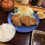 トンキコーヒー - 料理写真:チキンかつ定食-ご飯小 850円-50円