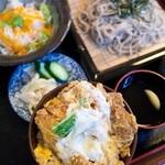 とっちゃん - ミニかつ丼セット(冷たいそば)