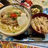 沖縄居酒屋あらぐすく - 料理写真:あらぐすくランチ(ソーキそばセット)