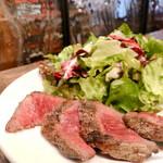143963824 - ■プライム牛ハラミステーキ ¥1,600                       フレンチフライ、サラダ、スープ、パンがセット