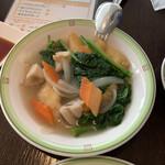 中国料理 桃李 - 白身魚と野菜の生姜煮込み