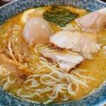 麺屋 もと - 味噌(中)+味玉