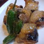 尚司亭 - お茄子の肉巻きです。