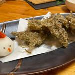 活海酒 - あおさの天ぷら