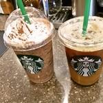 スターバックス コーヒー - ダークモカチップフラペチーノとアイスコーヒー