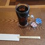 たんや 練 - ランチのアイスコーヒー