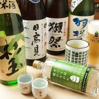 杉玉オリジナルの日本酒・焼酎も!