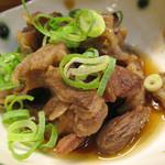 和さび - おばんざいメニューの中から、すじ煮。牛スジ肉の煮物です。