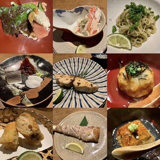 四季折々の野菜や海鮮など、旬の食材を渾身の品々でどうぞ