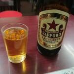 萬太郎 - サッポロラガー 大瓶  ¥ 550 -
