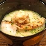 虎白 - 炙った白甘鯛と富田林産の海老芋のお椀
