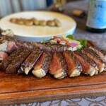 トラットリア ラ・エガオ - 料理写真:鹿児島県産黒毛和牛のLボーンステーキ