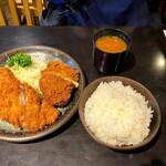 Tonkatsuniimura - 201010ロースかつランチ1030円
