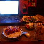 BLUE TURKEY - カレー定食 ヒレカツ付
