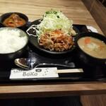 144034624 - ニンニクパンチ生姜焼き定食&一膳カレー