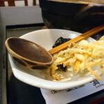 一八本店 - 天ぷらの添え方が粋です