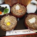 竹の家 - 料理写真:三色割子そば