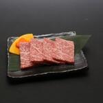 大衆酒場肉のオカヤマ - 〈ディナー〉霜降りロース
