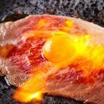 大衆酒場肉のオカヤマ - 〈ディナー〉炙りユッケ
