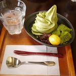 長峰製茶 - 抹茶わらび餅ソフト
