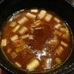 つけ麺屋しずく - 新濃厚魚介つけ麺のつけ汁・2012/8