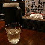 つけ麺屋しずく - 卓上の様子@2012/8