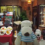 144053887 - 『ポンガラカレー』でお食事した後、ボキらはコーヒーを頂くため                       『喫茶サンシャイン』にきたよ。地下鉄・谷町線東梅田駅の改札を出てすぐの所にあるお店だよ。ちびつぬ「お店の前のメニューサンプルがいい感じよ」