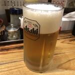 144057357 - 餃天堂 まずは「生ビール」550円(税込)