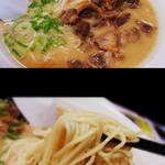 麺屋人生劇場 七転び八起き - 肉ラーメン(肉50グラム)とんこつ(650円)