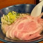 144075604 - 限定 濃厚猪弩煮干蕎麦+肉増し