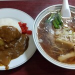 Sakaeyamirukuhoru - ラーメン&カレーセット