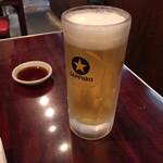 ホルモン・焼肉 キムチ - 生ビール(500円税別)