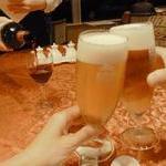 中国料理 李芳 - 先ずは風呂上がりの生ビール!!