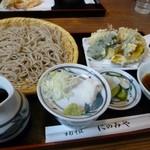 手打そば にのみや - 野菜天ざる  ¥1365