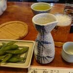 藤舟 - 料理写真:まずは熱燗を