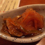 竹の家 - お通し 鶏の南蛮
