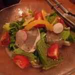 竹の家 - フルーツトマトと生ハムのサラダ