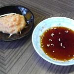 藤 - 料理写真:たれ・ニンニク一味