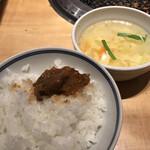 焼肉彩苑 モランボン - オンザライス&玉子スープ
