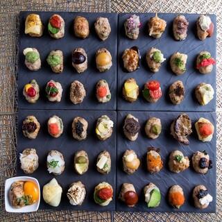 当店自慢のつくねは約48種類☆様々な味をお召し上がりください