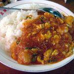 孟渓苑 - エビ卵チリソース丼
