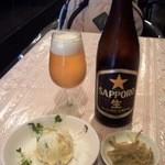 14412363 - 中瓶ビールとランチの小皿